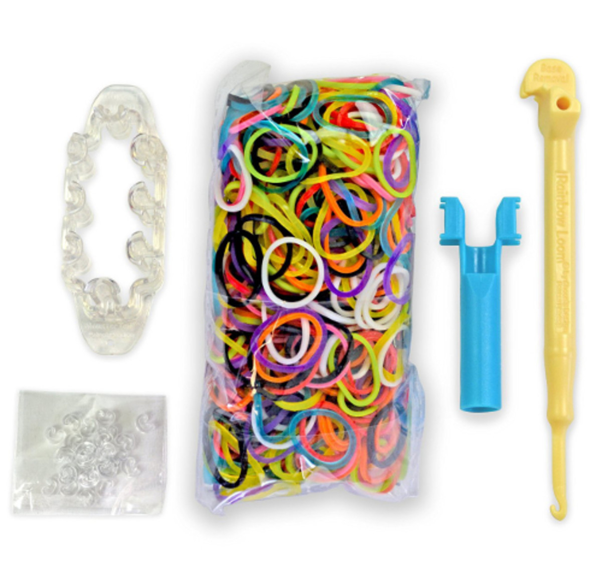 What You Get in the MonsterTail Box: hook, rubber bands, loom, clips and instructions. Everything you need to get started!