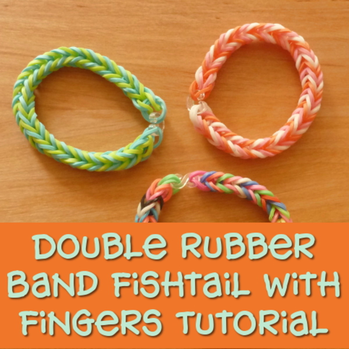 The double rubber band fishtail no loom pattern using your fingers tutorial