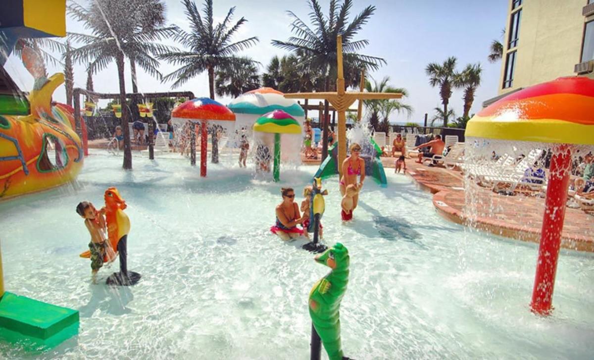 Springmaid Beach Resort Photo of Pool in Myrtle Beach, South Carolina.