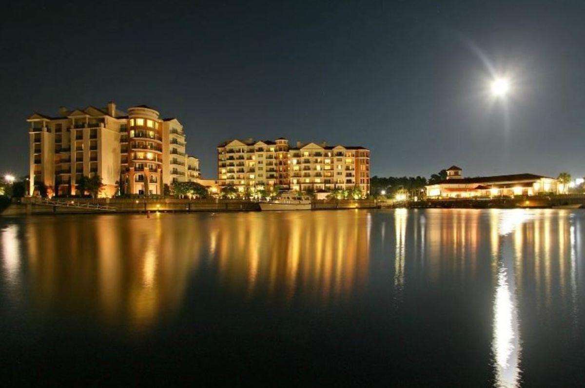 Marina Inn at Grande Dunes Night Time Photo