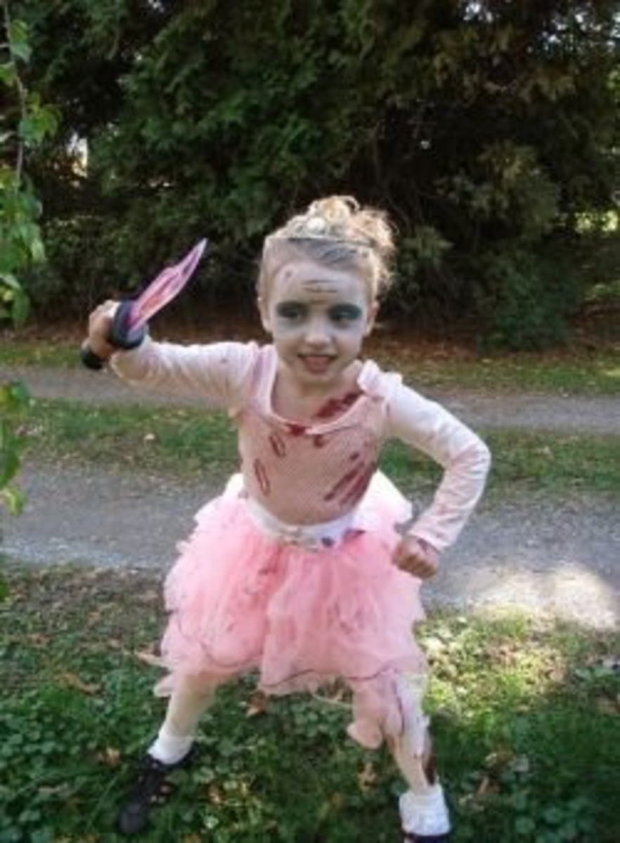 Easy Zombie Princess Costume Idea