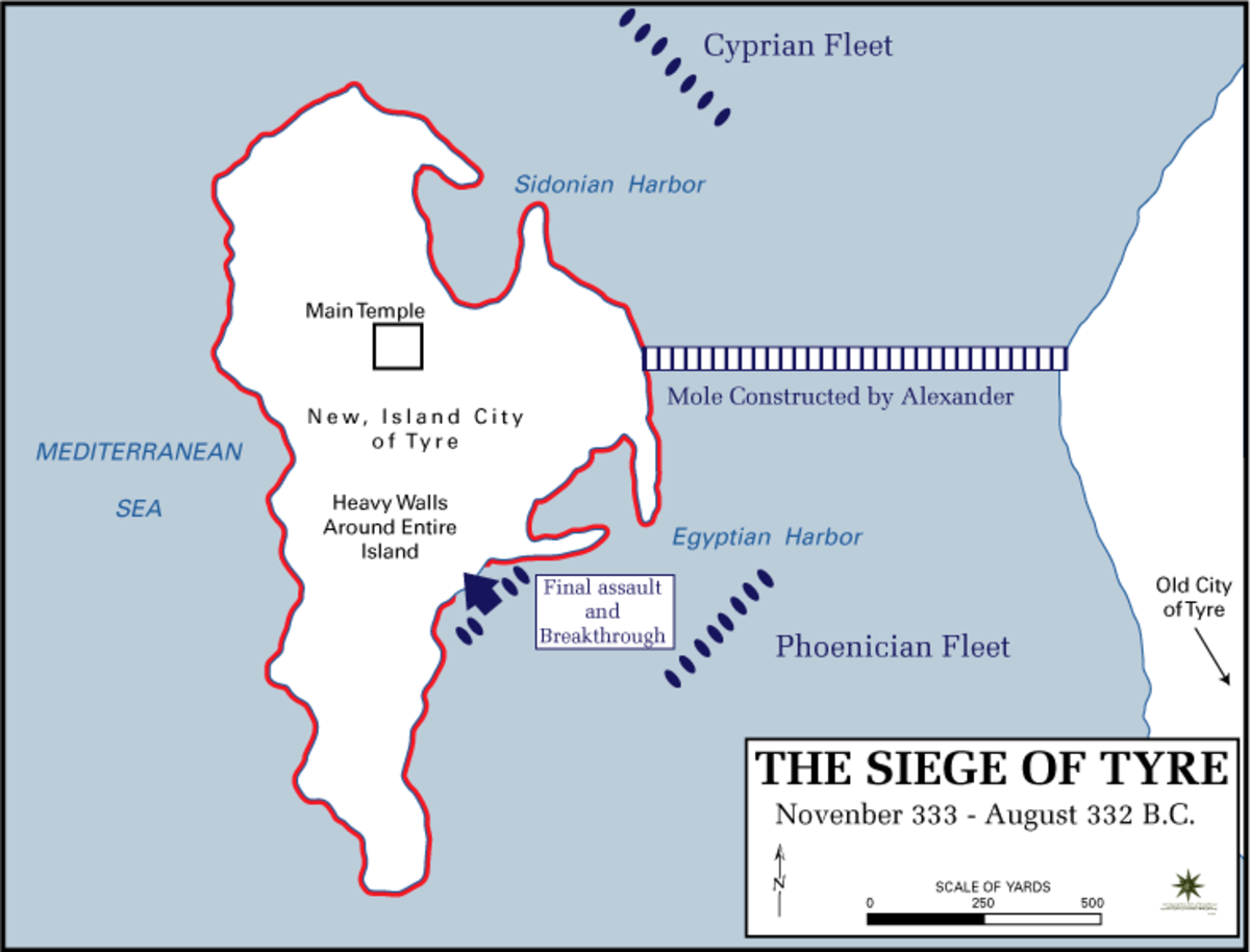 Siege of Tyre by Alexander the Great