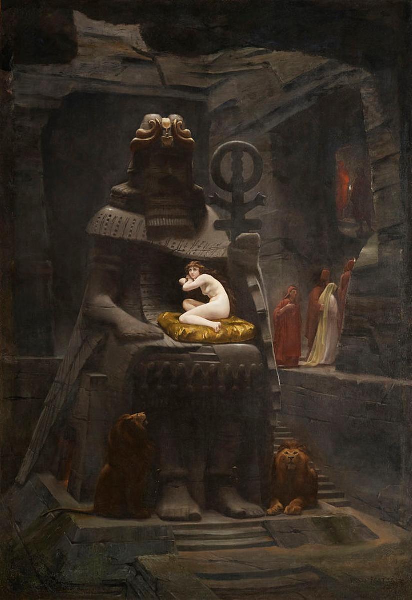 Baal receiving a human sacrifice