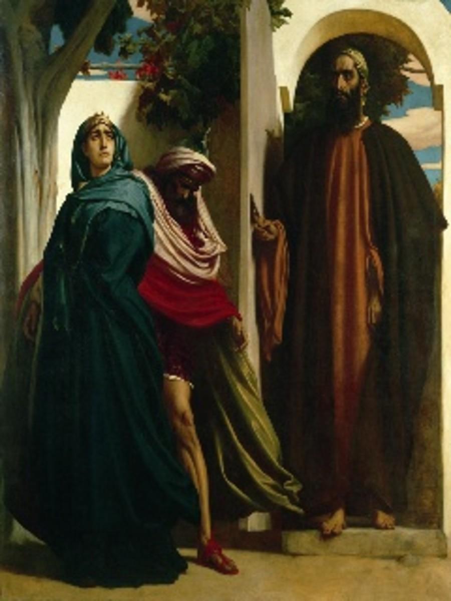 Jezebel and Ahab with Elijah
