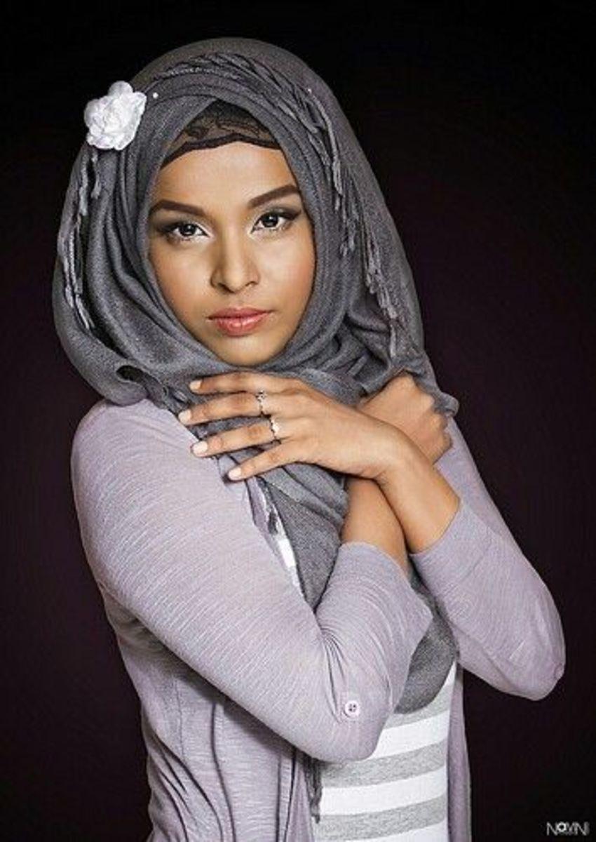 Grey hijabi look
