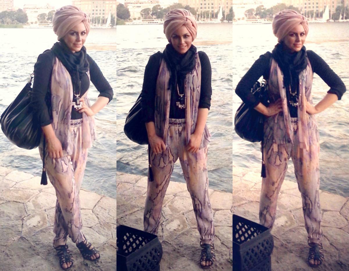 Hijab with pants.