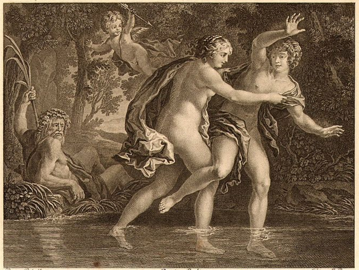 Hermaphroditus attacked by Salmacis
