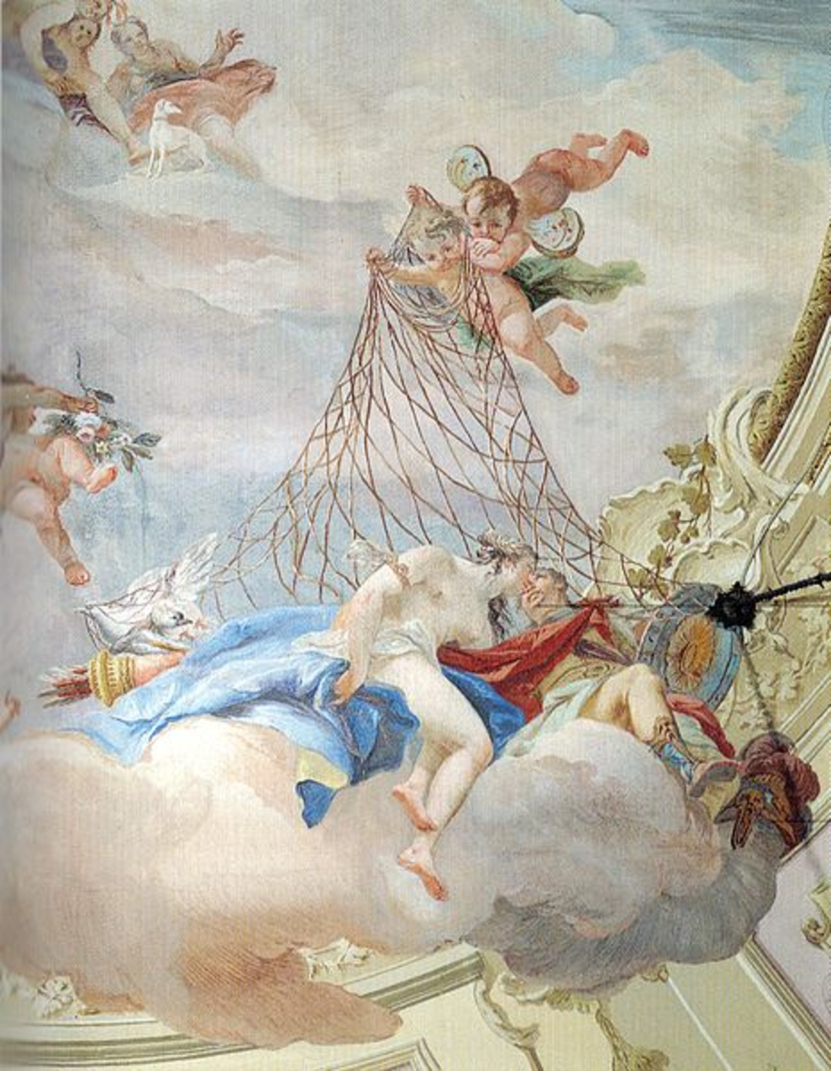 Hephaestus catches Ares and Aphrodite in his net