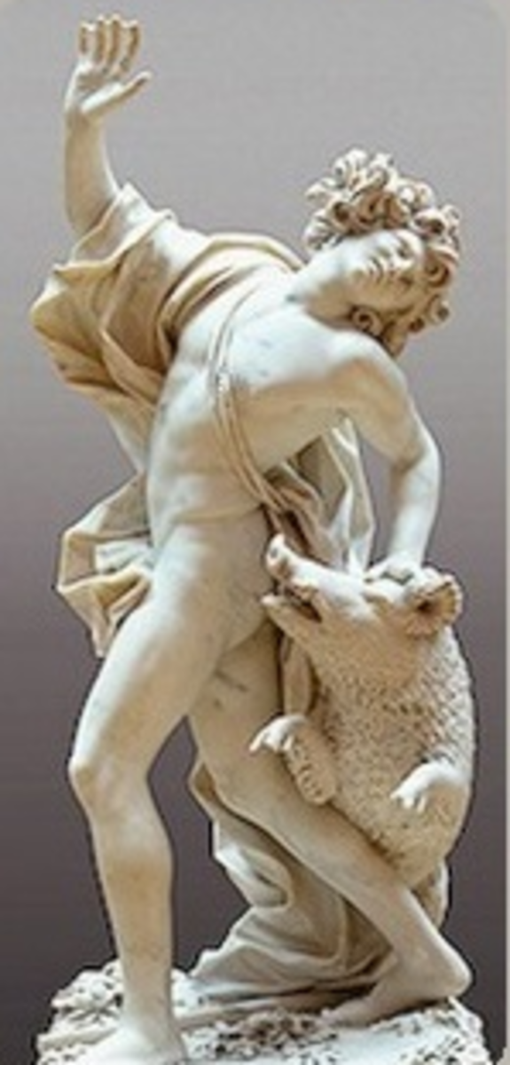 Adonis attacked by boar