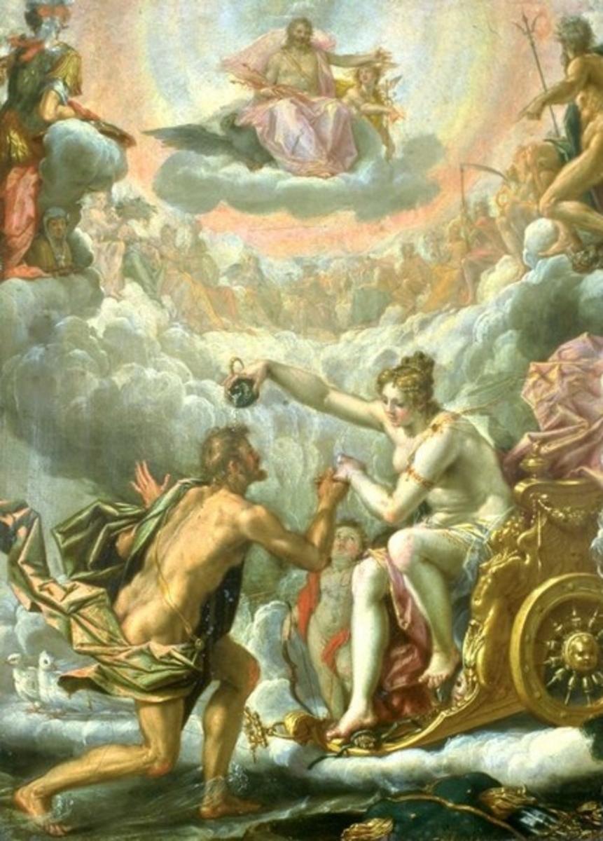 Aeneas becomes a god