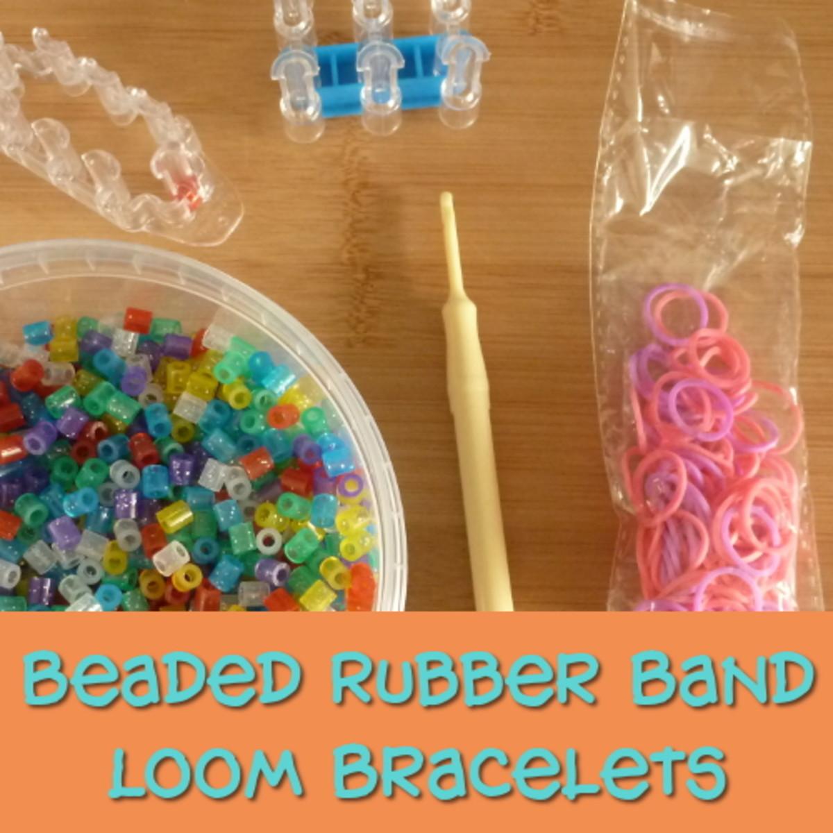 beaded rubber band loom bracelets