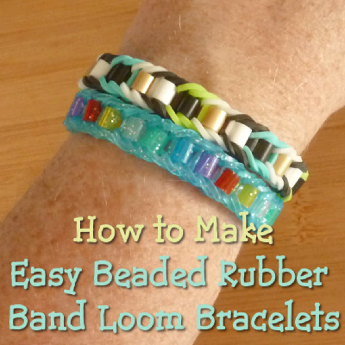 How to make easy beaded rubber band loom bracelets
