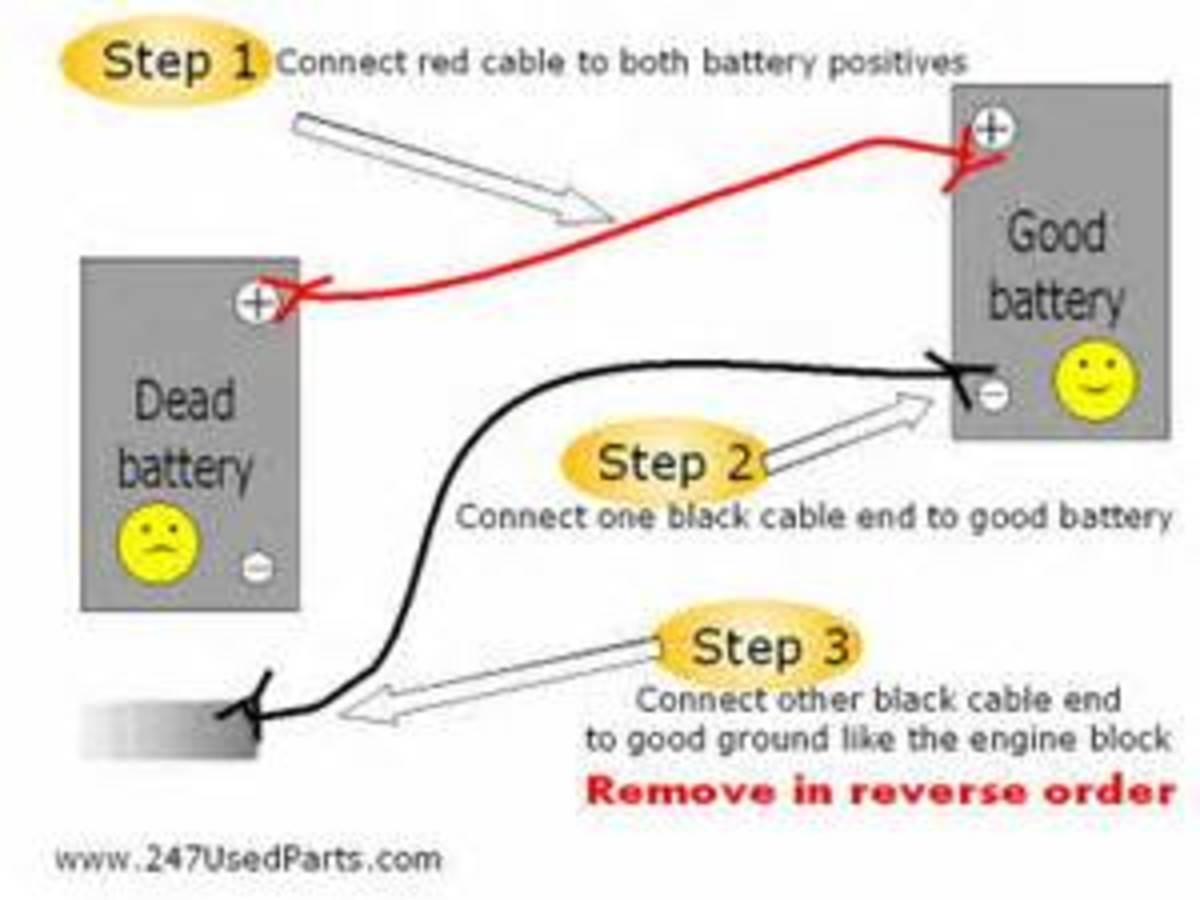 Correct way hook up jumper cables