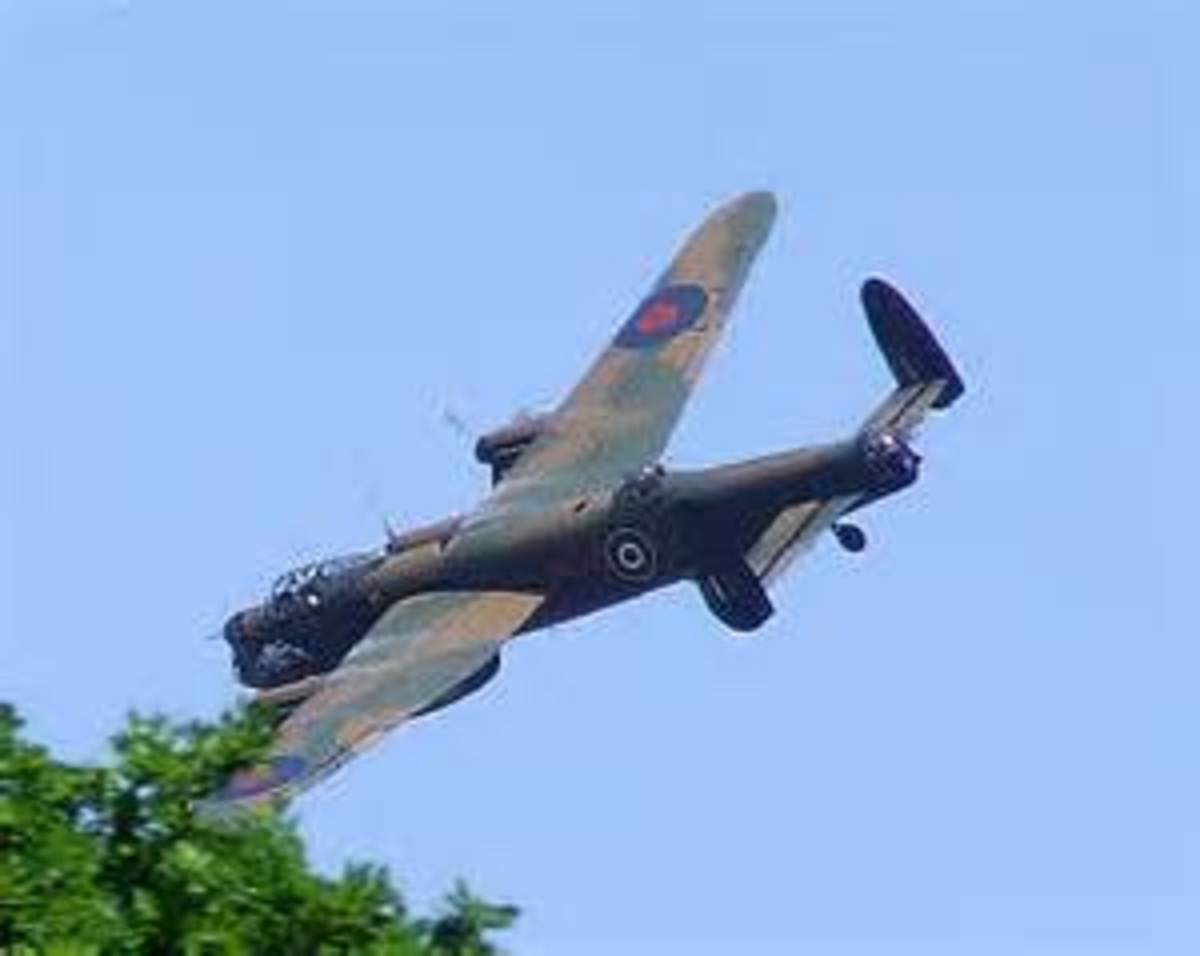 Very low flying Lancaster