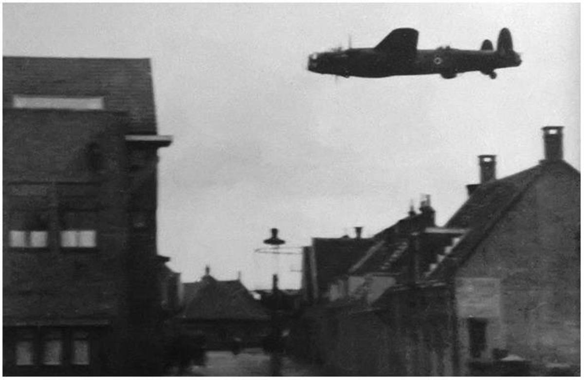Low flying RAF Lancaster