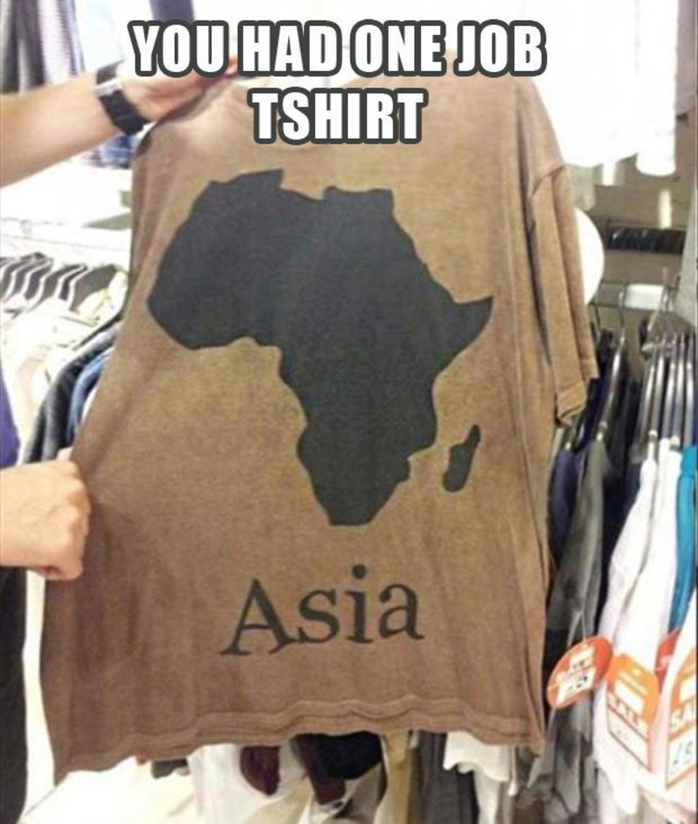 Someone surely failed in his or her geography class.