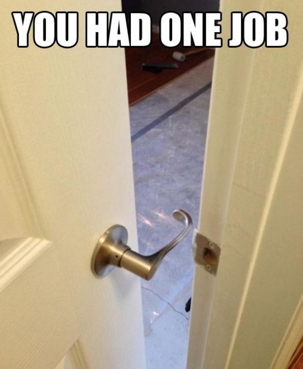 You had one job, epic fail:  door handle attached so as to be useless.