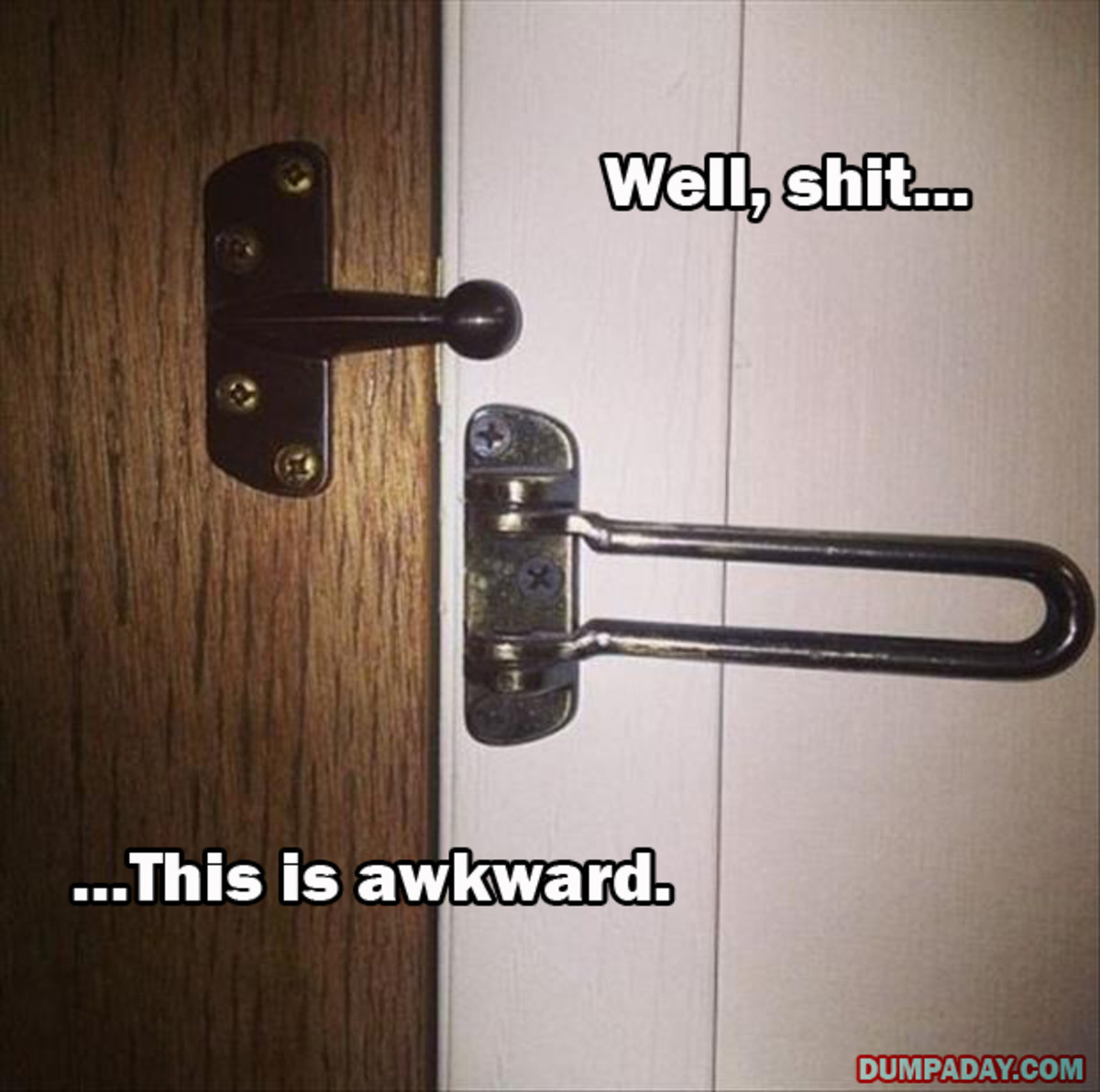 Hope the villain is not standing outside the door that has this lock.