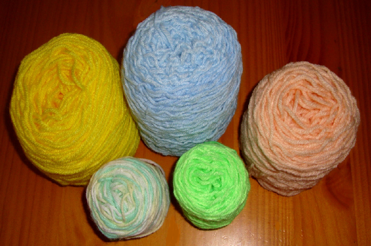 Image: Yarn Balls After Being Wound on an Electric Yarn Winding Machine