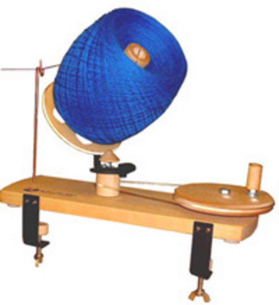 "The original wooden ball winder that makes center pull balls up to 6"" in diameter. Made from solid birch and finished with linseed oil. Designed for many years of use."