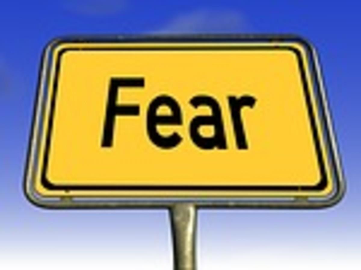 Dark forces feed off fear.