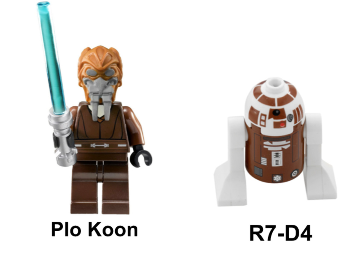 LEGO Star Wars Plo Koon's Starfighter 8093 Minifigures