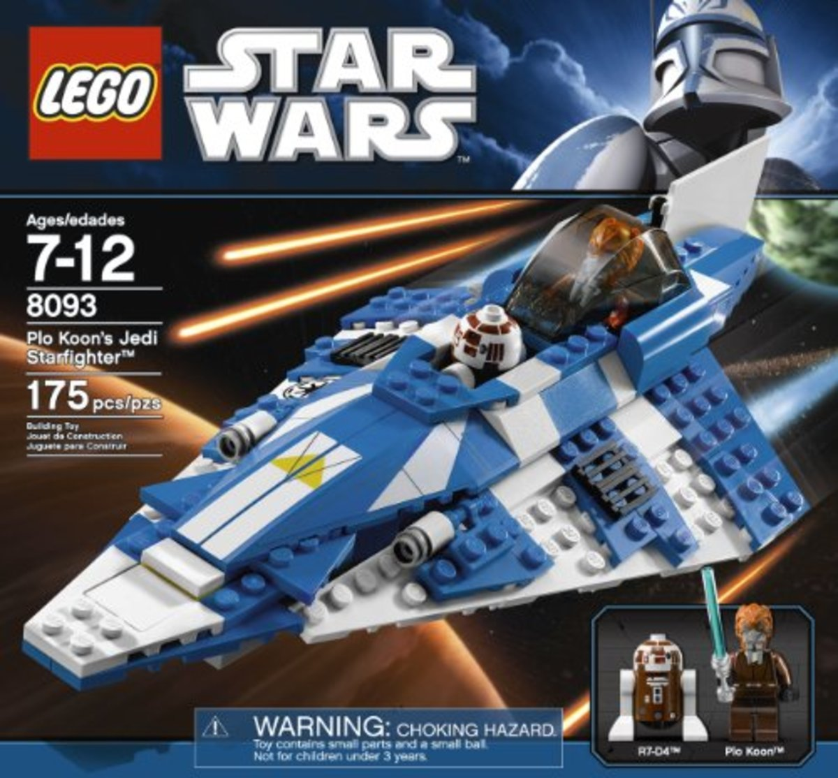 LEGO Star Wars Plo Koon's Starfighter 8093 Box