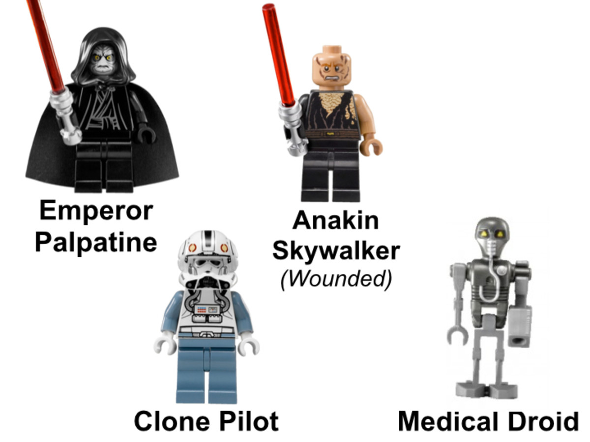 LEGO Star Wars Emperor Palpatine's Shuttle 8096 Minifigures