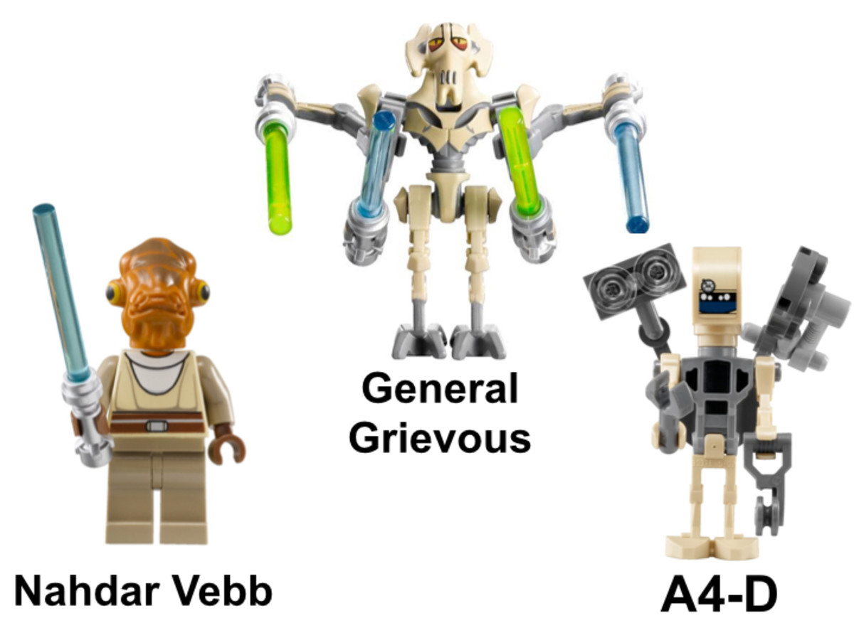 LEGO Star Wars General Grievous Starfighter 8095 Minifigures