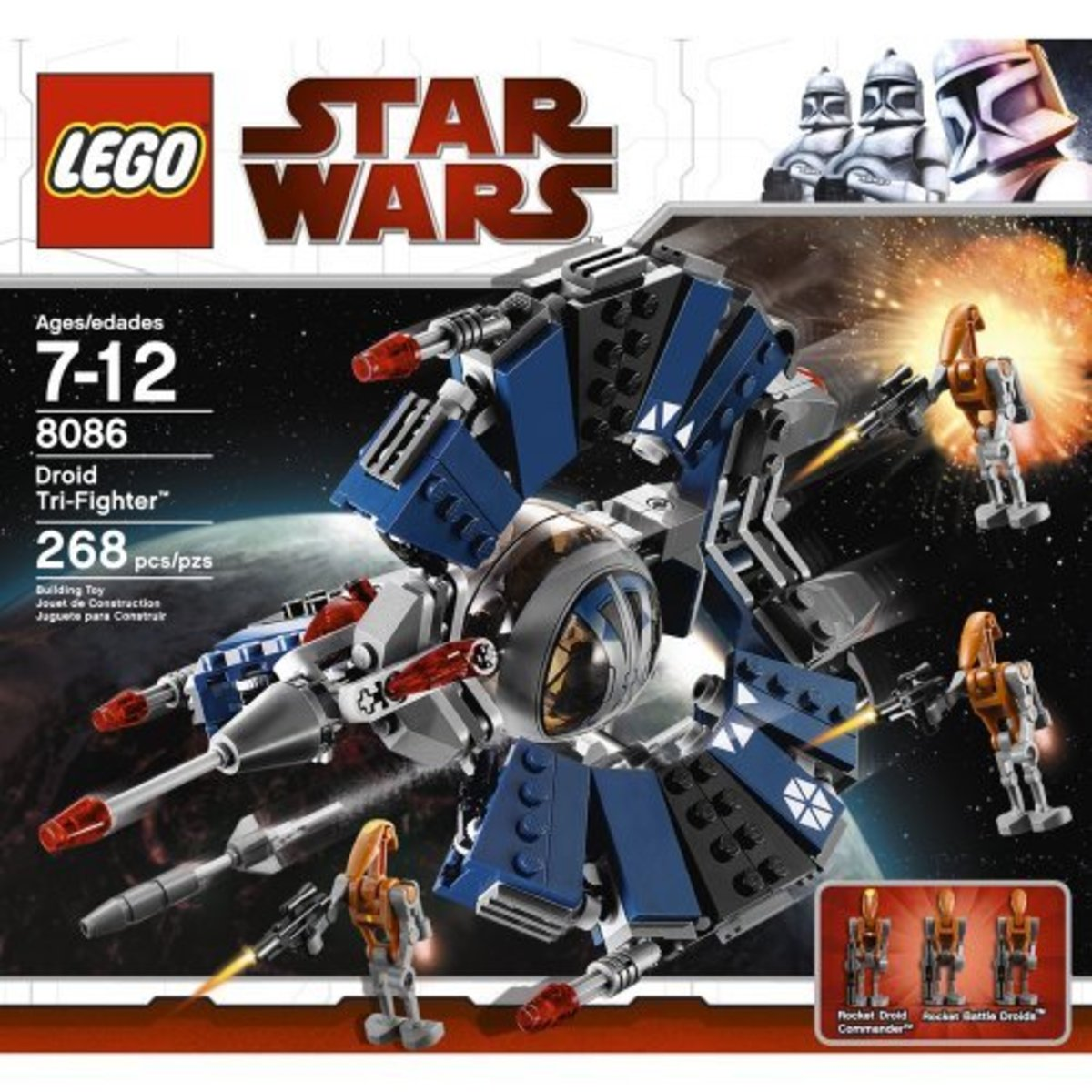 LEGO Star Wars Droid Tri-Fighter 8086 Box