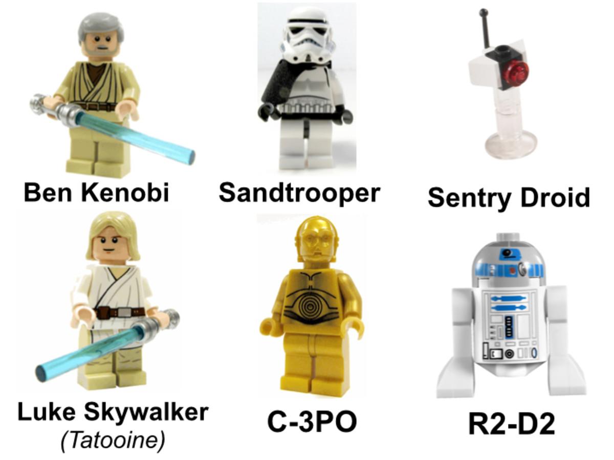 LEGO Star Wars Luke's Landspeeder 8092 Minifigures