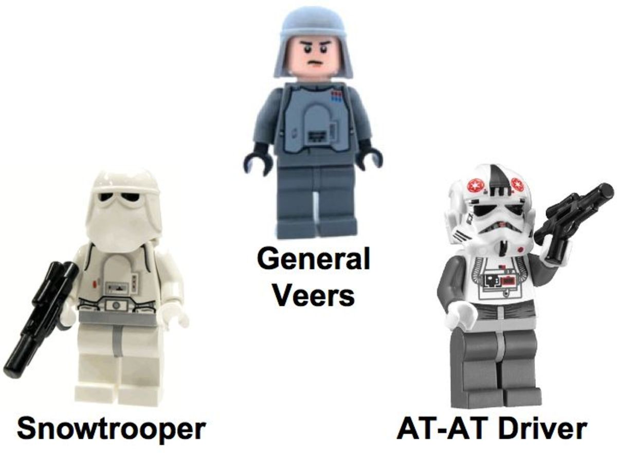 LEGO Star Wars AT-AT Walker 8129 Minifigures Dark Side