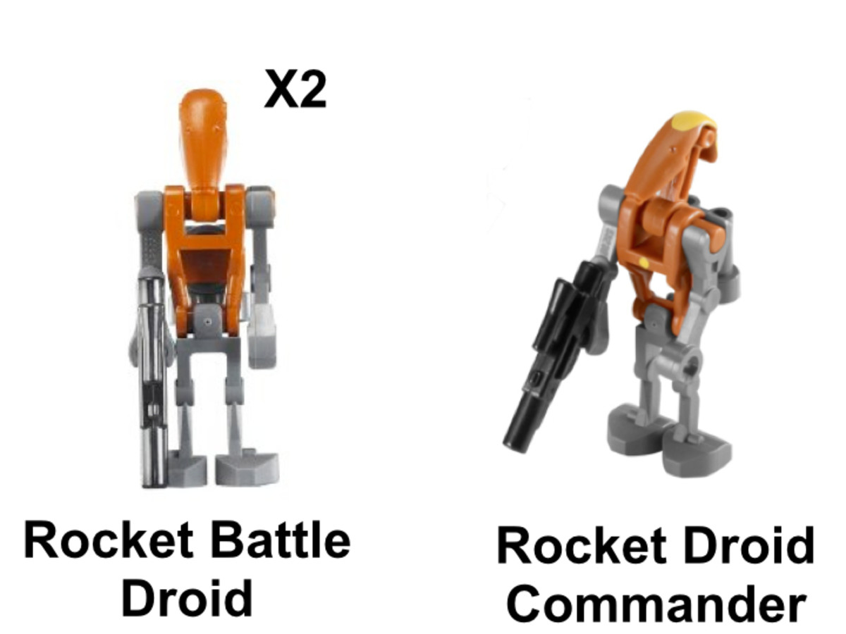 LEGO Star Wars Droid Tri-Fighter 8086 Minifigures