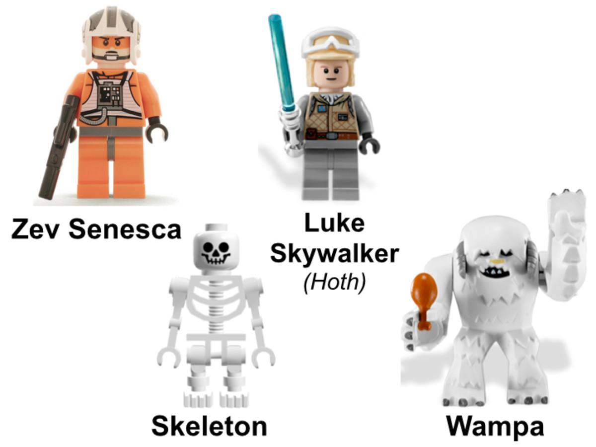 LEGO Star Wars Hoth Wampa Cave 8089 Minifigures