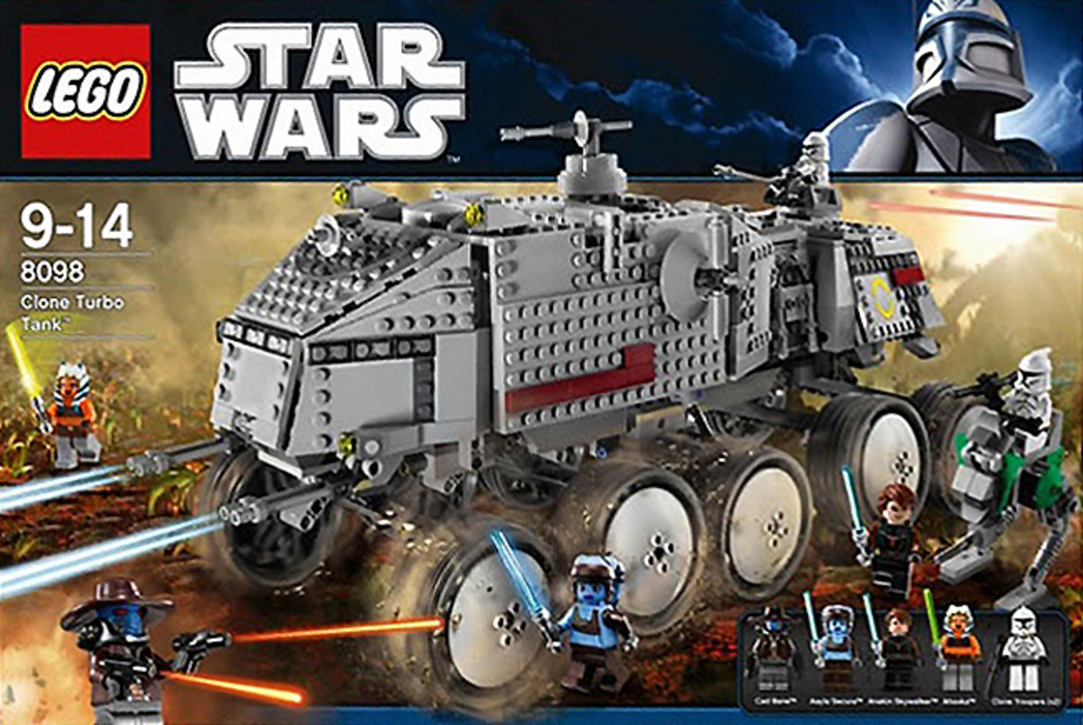 LEGO Star Wars Clone Turbo Tank 8098 Box