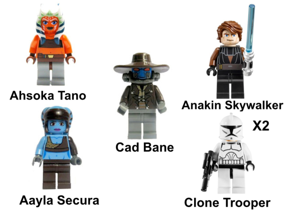 LEGO Star Wars Clone Turbo Tank 8098 Minifigures