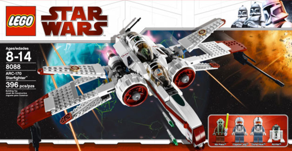 LEGO Star Wars ARC-170 Starfighter 8088 Box