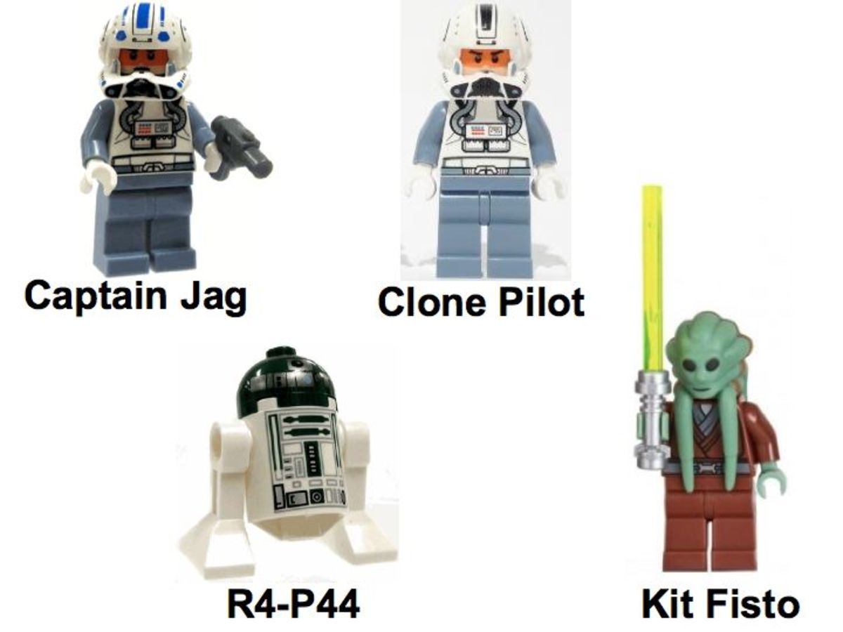 LEGO Star Wars ARC-170 Starfighter 8088 Minifigures