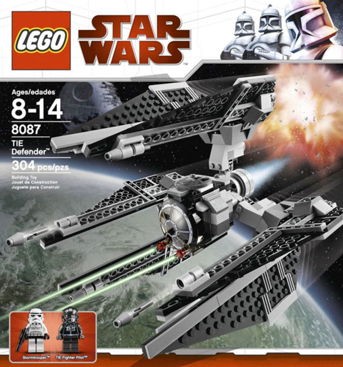 LEGO Star Wars TIE Defender 8087 Box