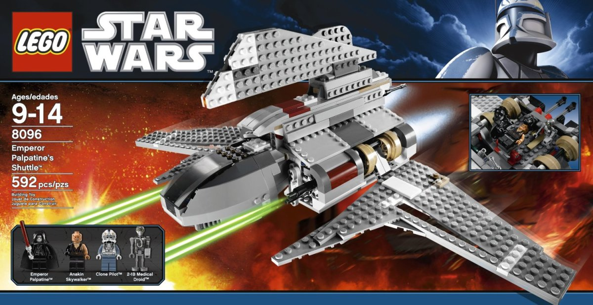 LEGO Star Wars Emperor Palpatine's Shuttle 8096 Box