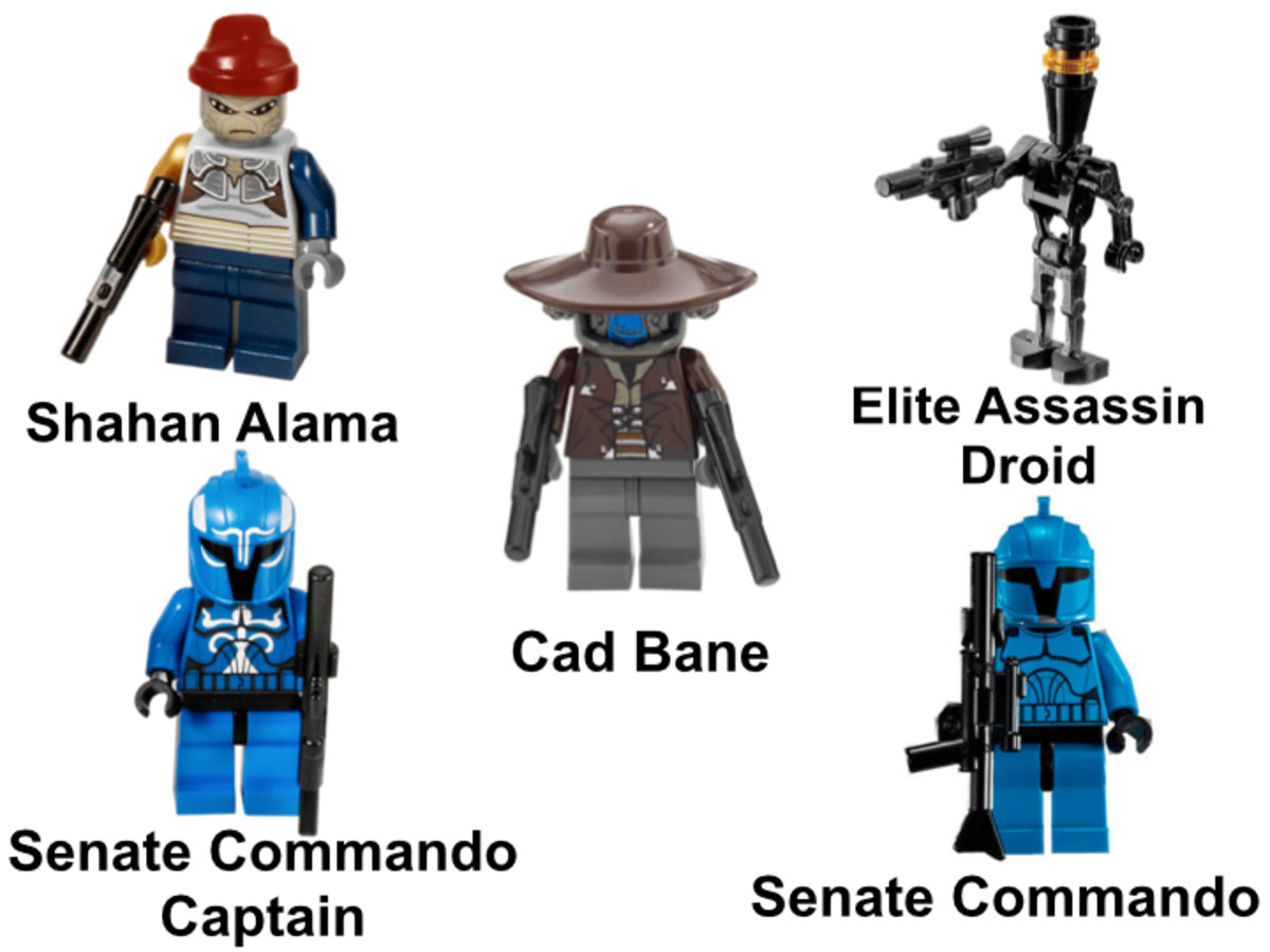 LEGO Star Wars Cad Bane's Speeder 8128 Minifigures