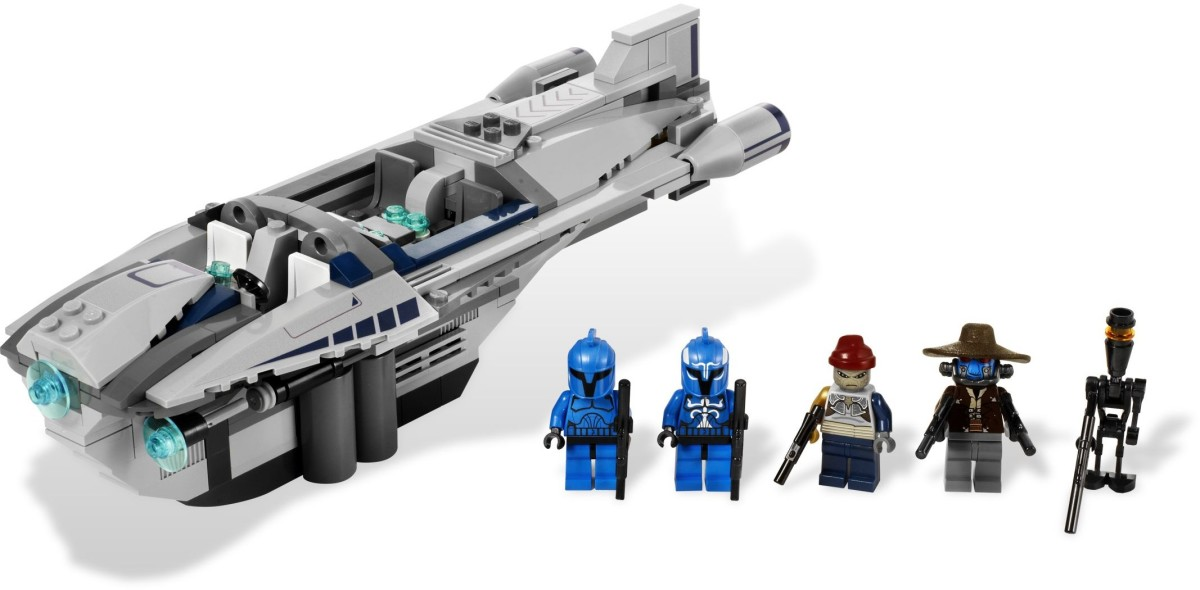 LEGO Star Wars Cad Bane's Speeder 8128 Assembled