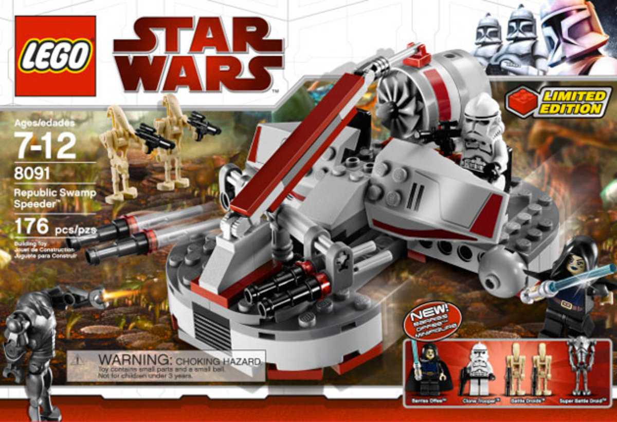 LEGO Star Wars Republic Swamp Speeder 8091 Box