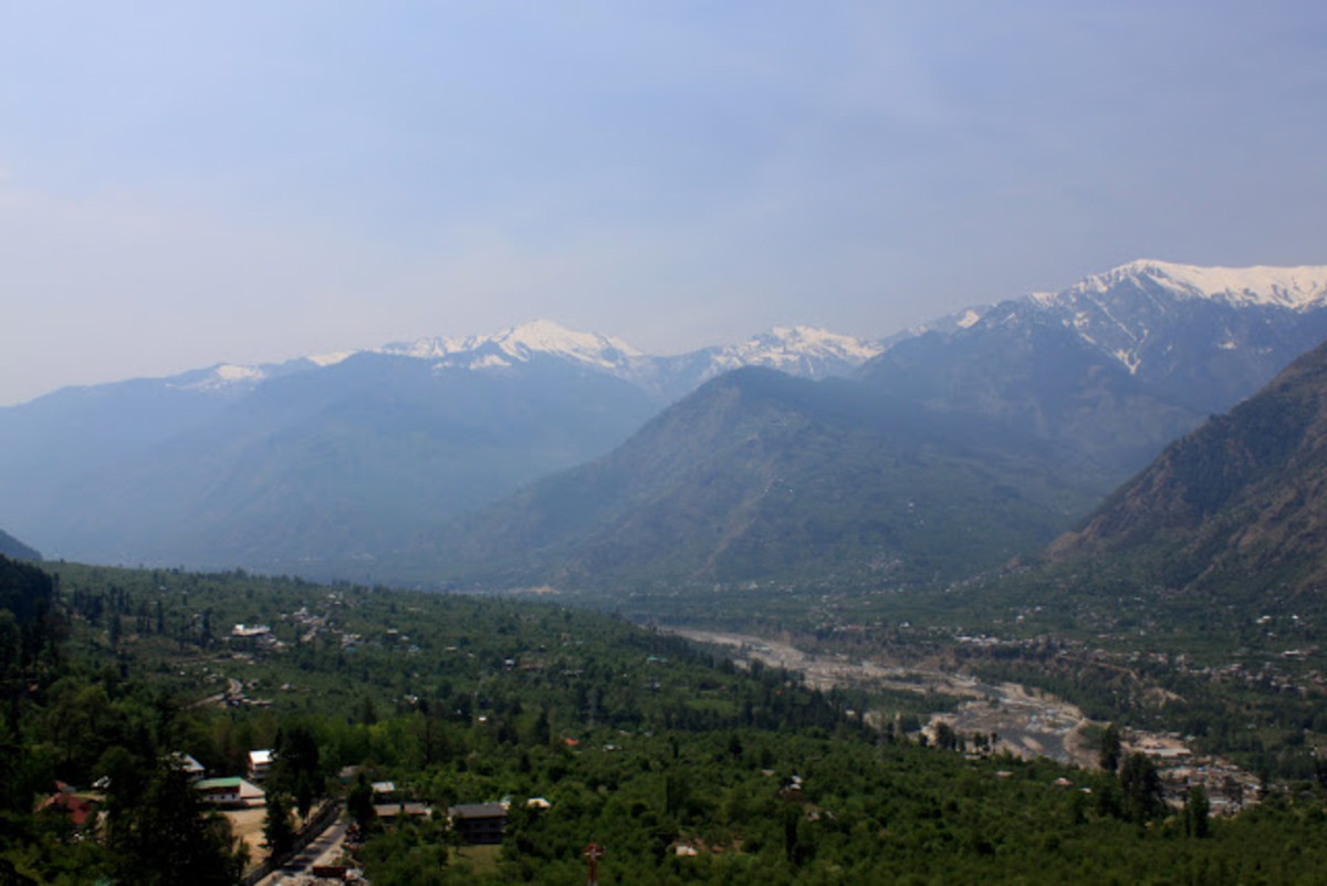 The Majestic view of Beas River from Naggar
