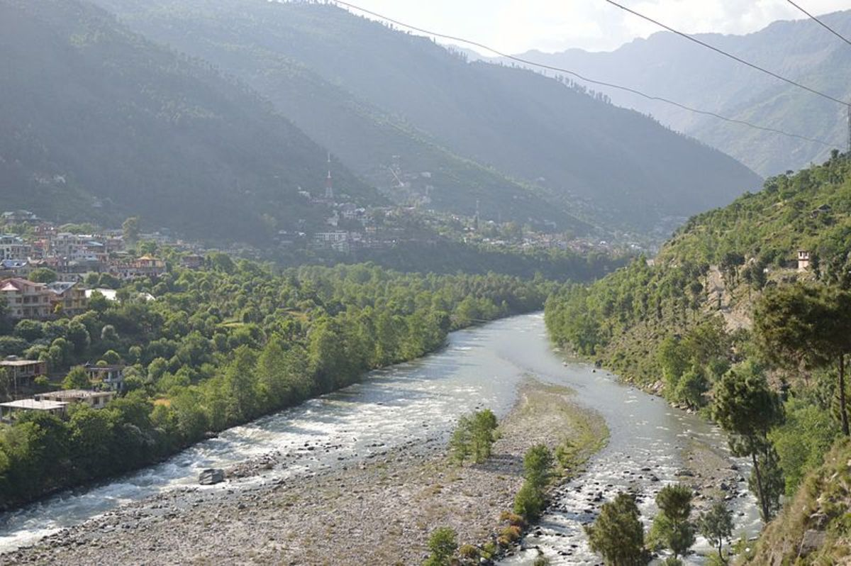 River Beas along the Kullu Town
