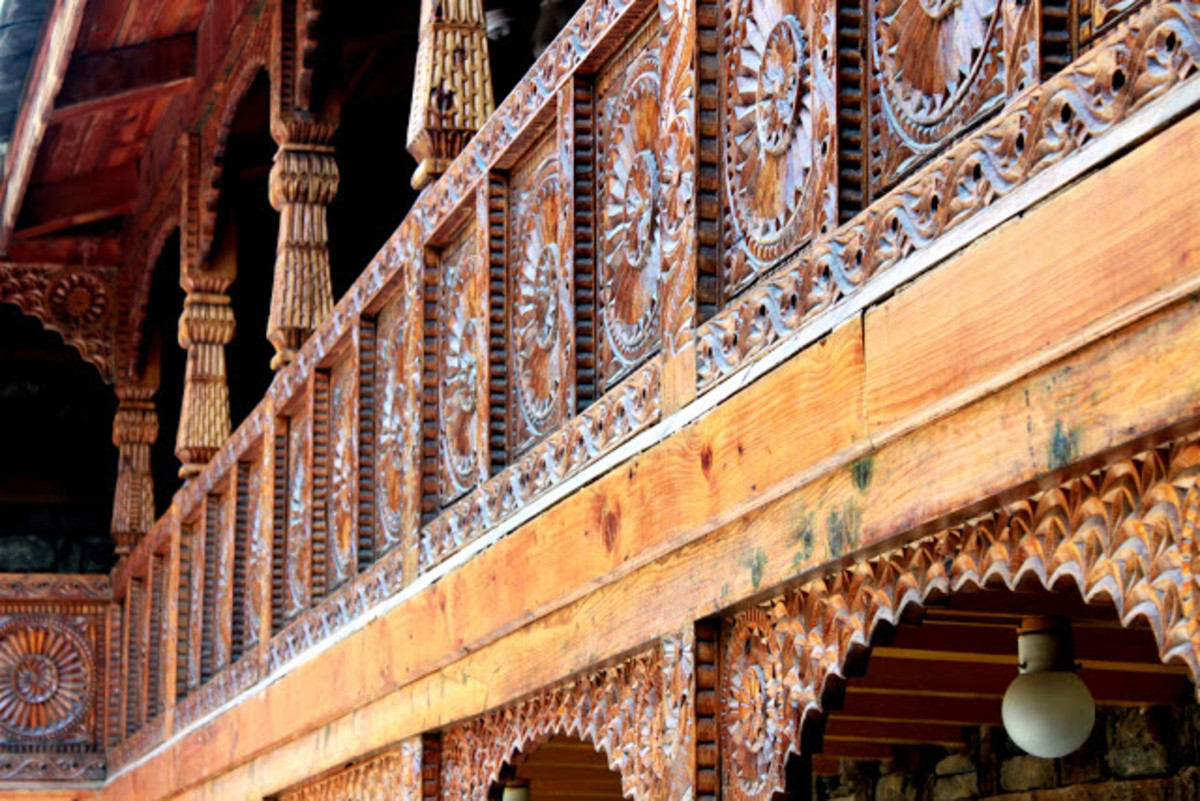 Fine woodwork at Naggar Castle