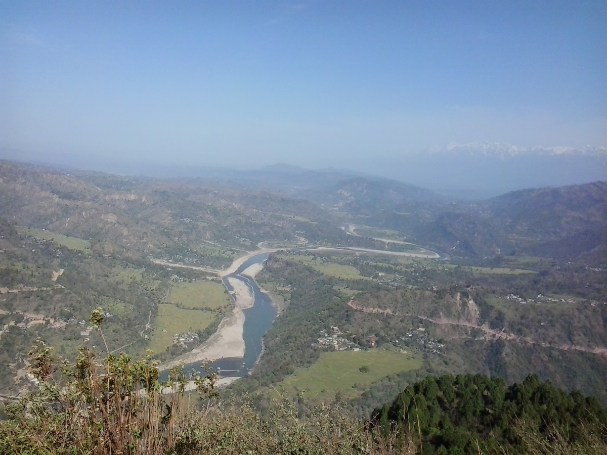 A panoramic view of Beas at kandapattan