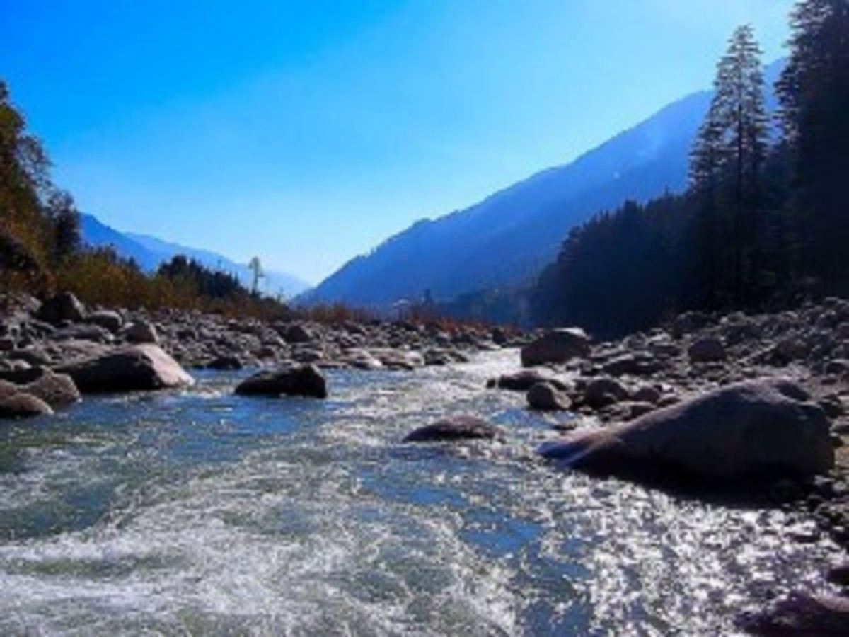 The gushing waters of Beas