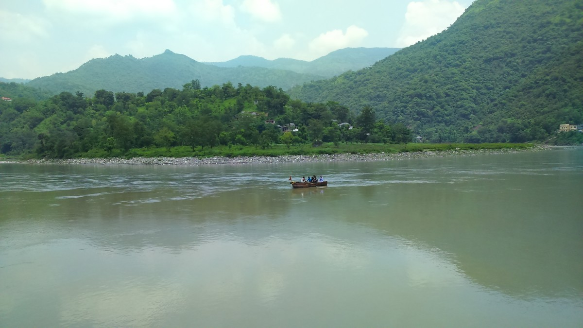 Boating at Beas at Kandapattan