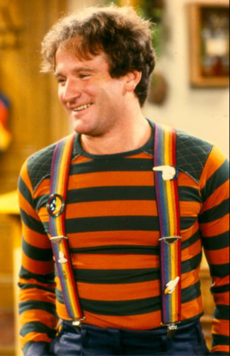 Robin William as Mork from Mork and Mindy